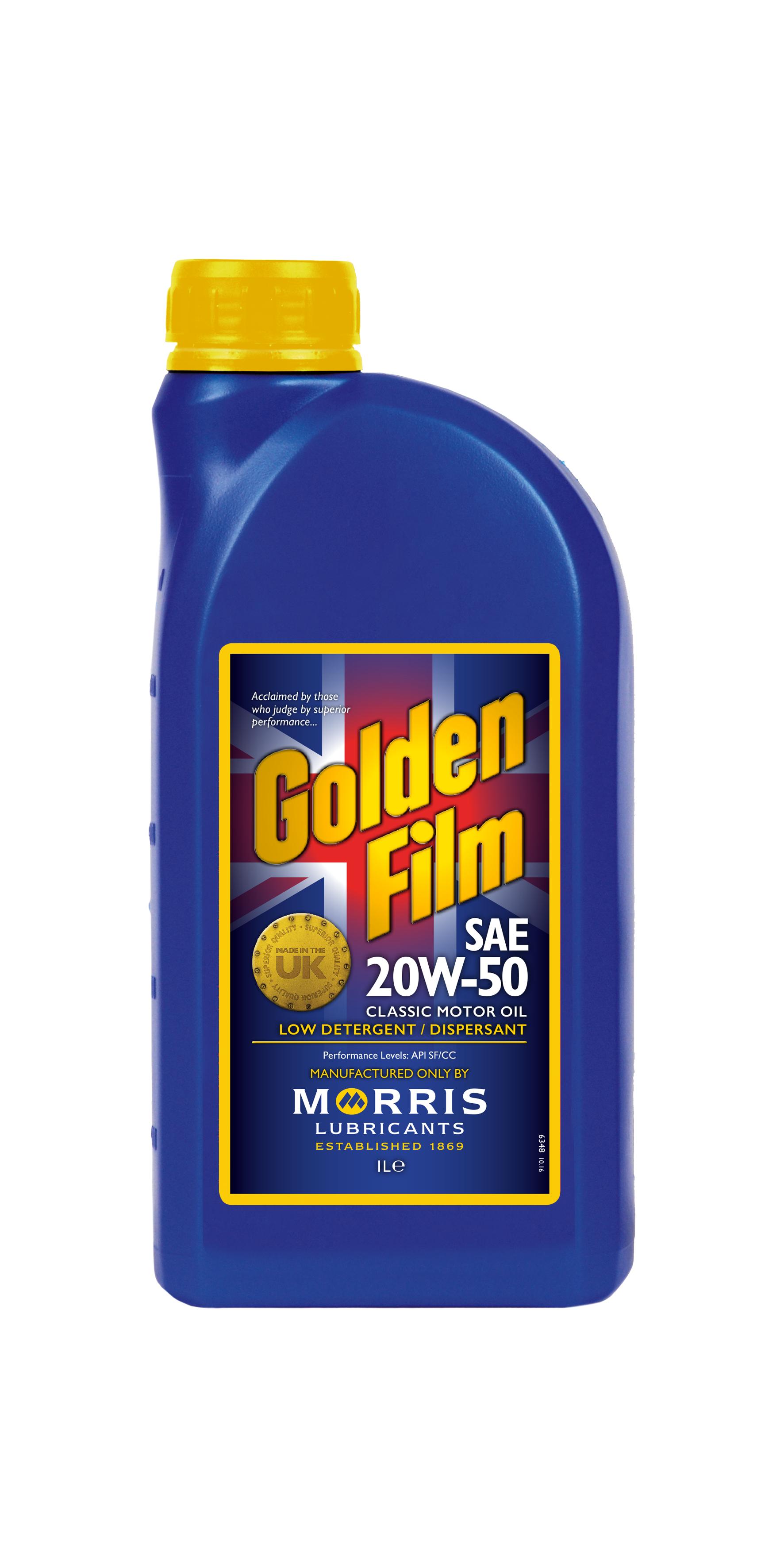 Golden film sae 20w 50 classic motor oil for Sales on motor oil