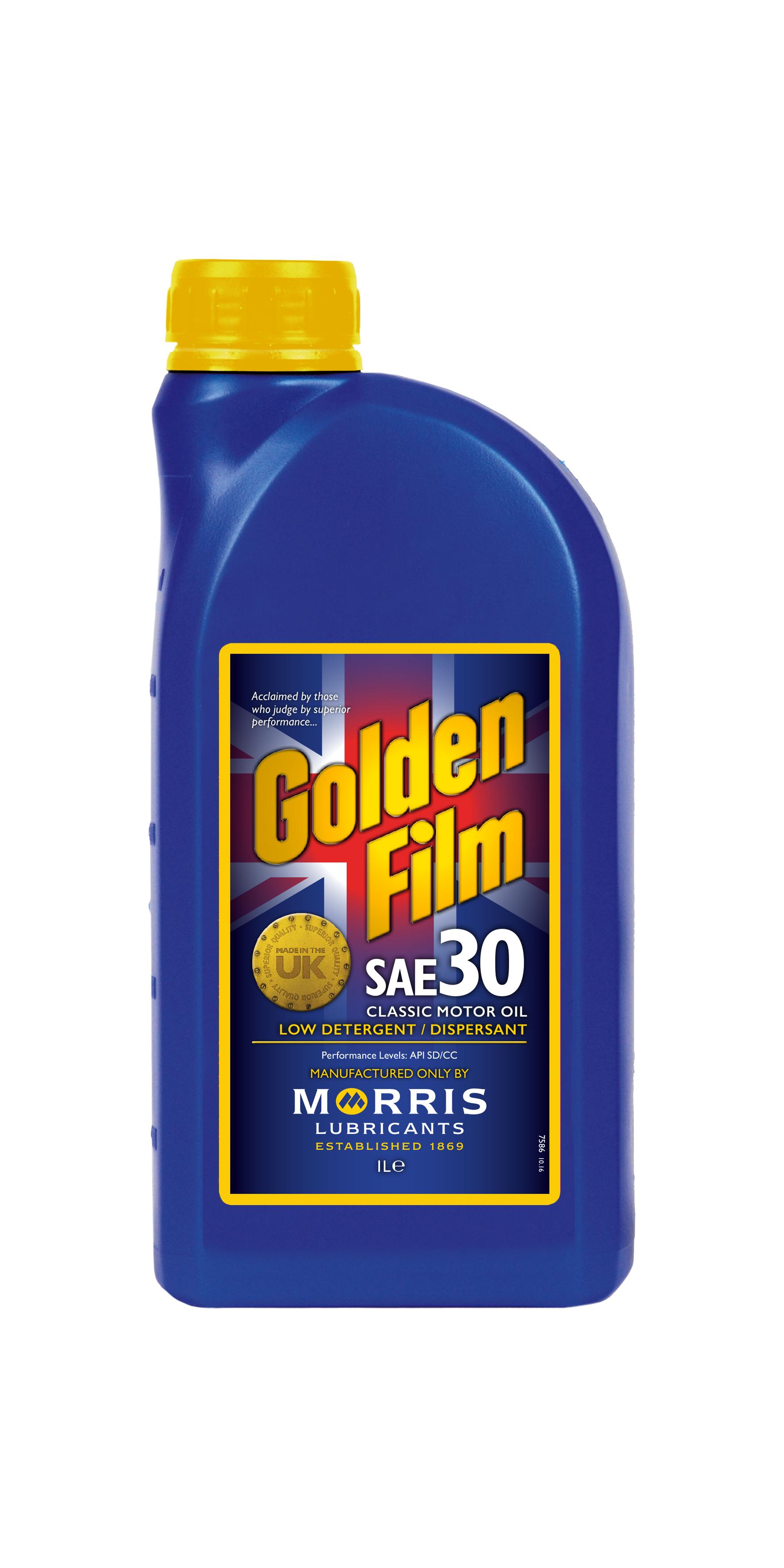 Golden film sae 30 classic motor oil for Motor oil for older cars